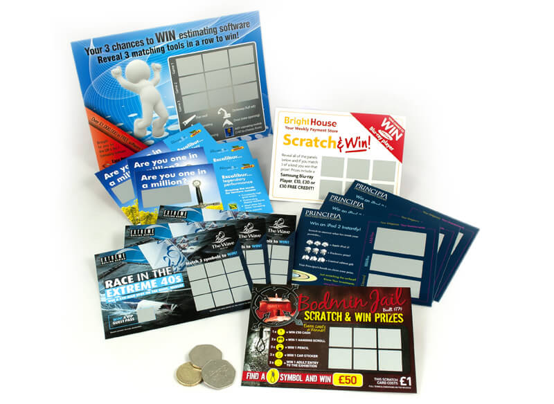 A selection of scratch card examples
