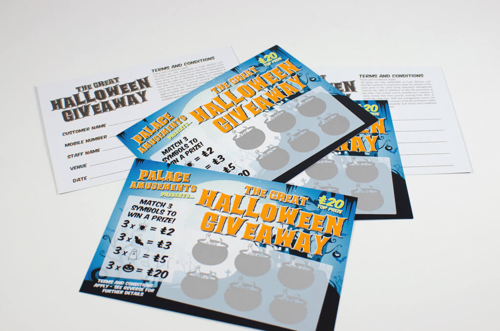 Scratch Card Project: Halloween scratch card