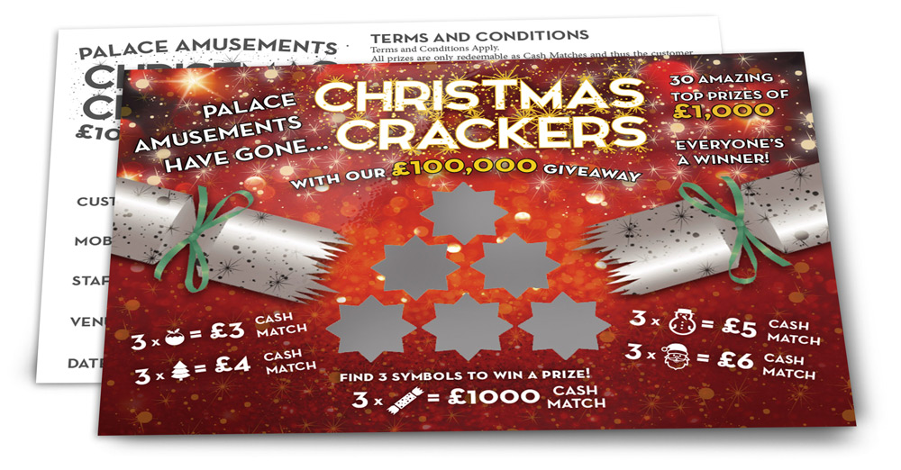 CMYK Christmas scratch card design