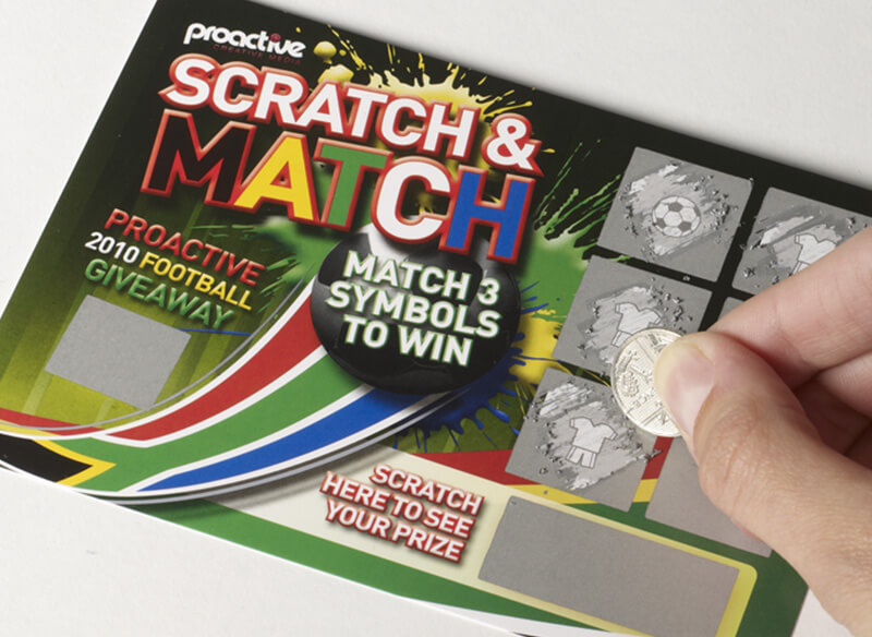 World Cup Football Scratch Card game