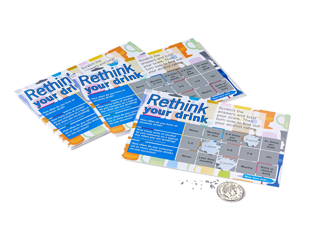 scratch card samples - medical health scratch card