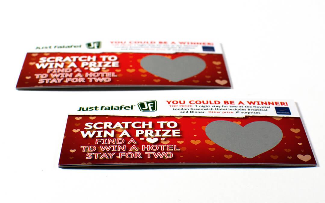 Scratch Card Project: Restaurant scratch card