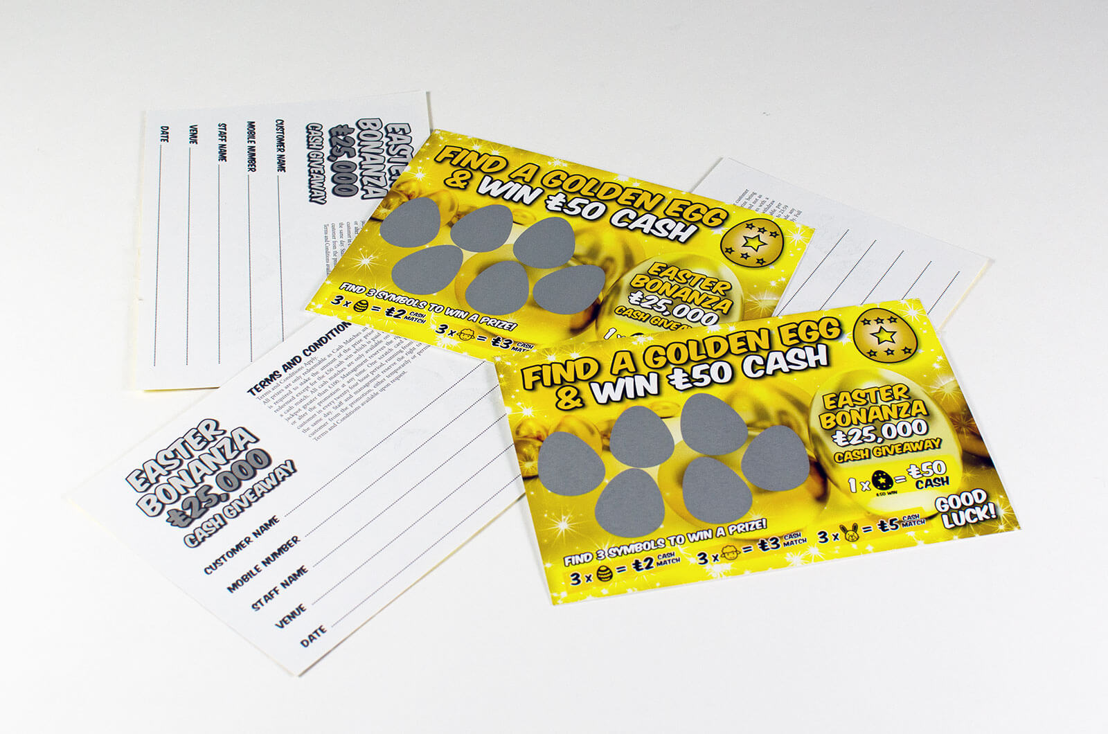 Scratch Card Project: Easter Scratch card