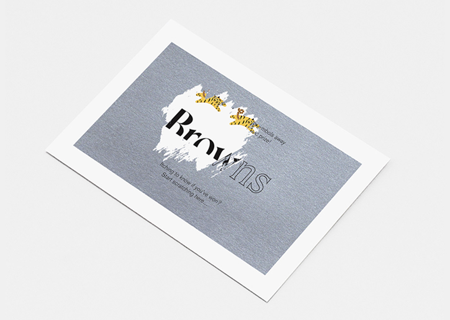 Browns Scratch card promotion sample