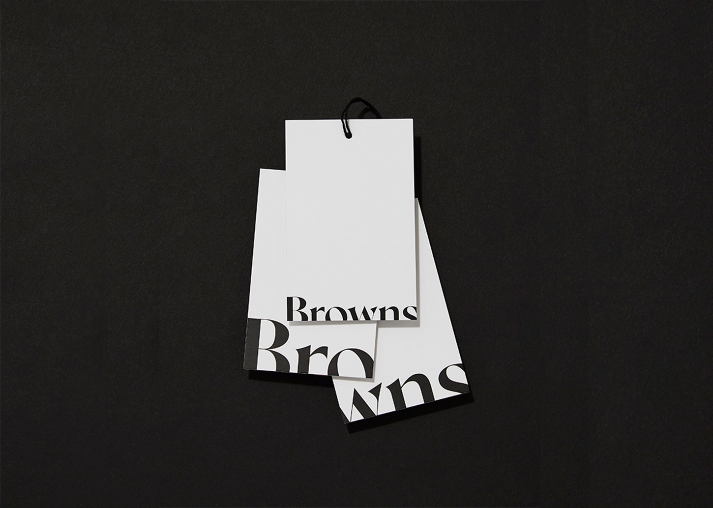 scratch card promotion - Browns swing tag logo redesign