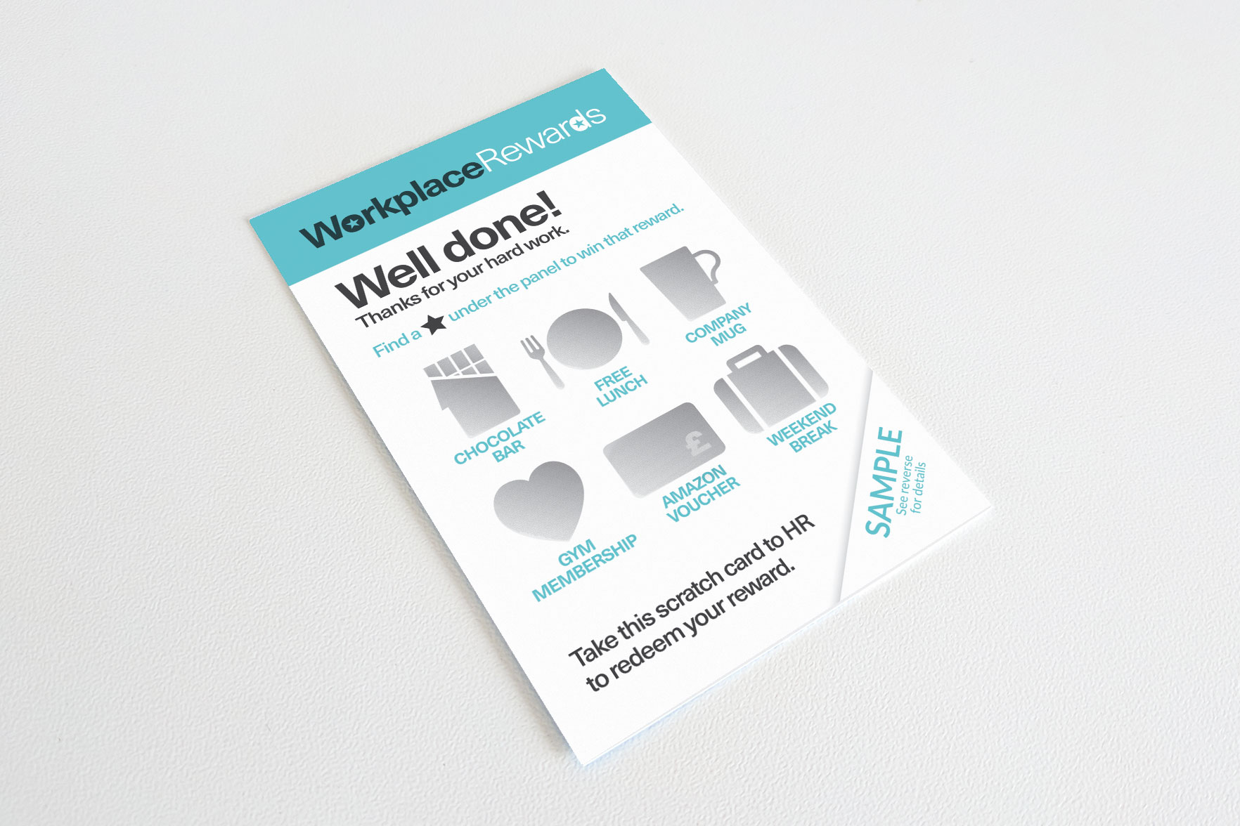 Business card scratch card 85mm x 55mm a6 scratch card example 148mm x 105mm full colour print front and reheart Choice Image